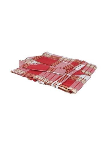 Bedinn N Standart Beden Şal Yaka Kol 54 Cm Göğüs 63 Cm Boy 109 Cm Pamuk Ipliği Yıkanabilir Klasik Peştemal Bornoz Kırmızı